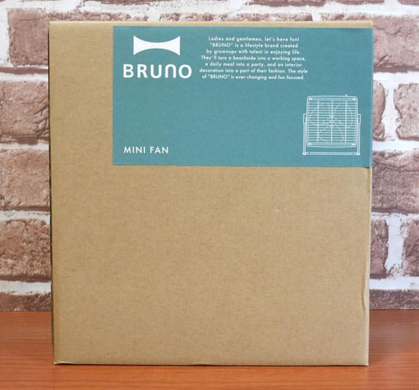 BRUNOの扇風機「ミニファン」 外箱画像