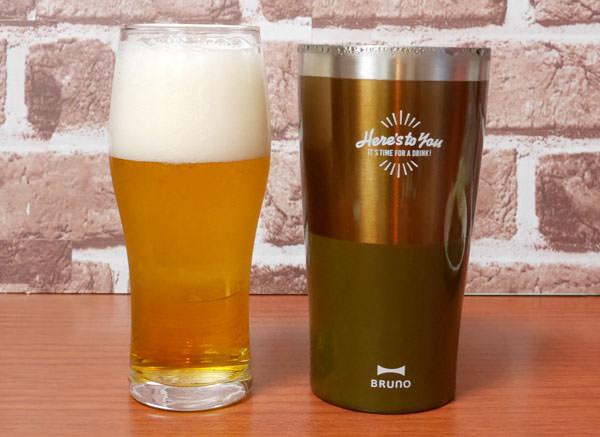 ビールグラスと並べてみた