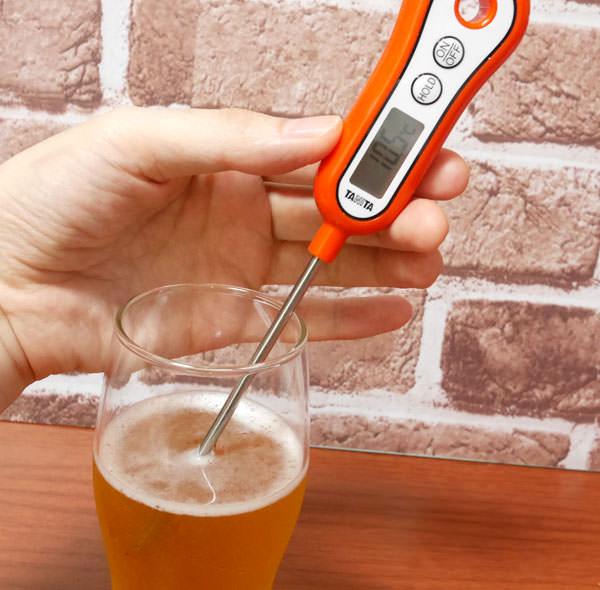 10分後のビールグラスの温度を測ってみた