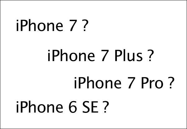 iPhone名称