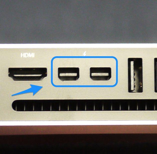 Mac miniのThunderbolt端子