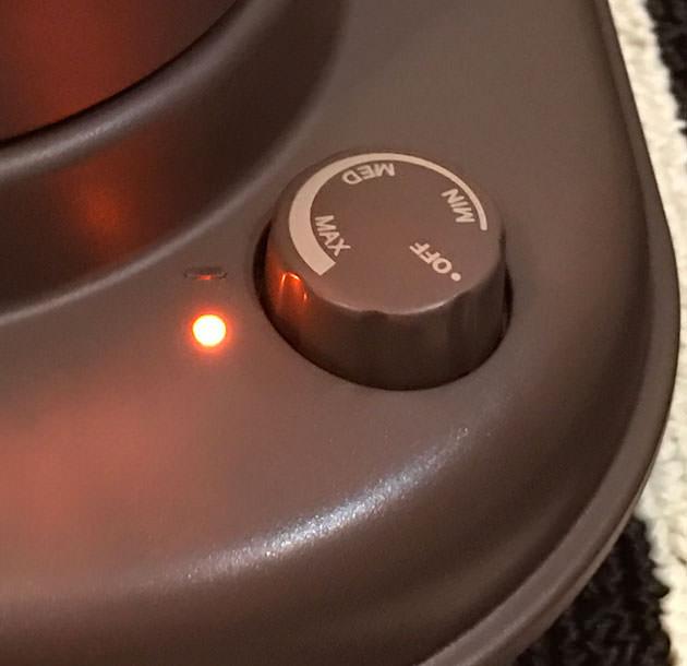 温度スイッチをMAX設定にした