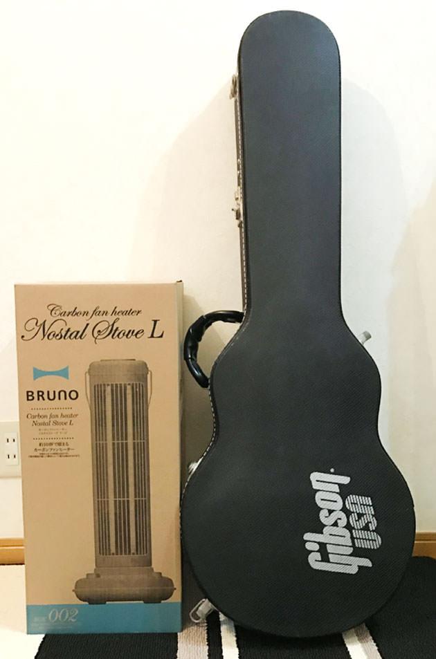 梱包ダンボールをギターの大きさと比較