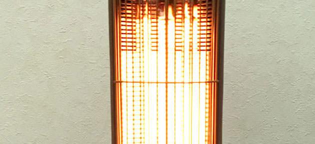 熱源が光っている様子