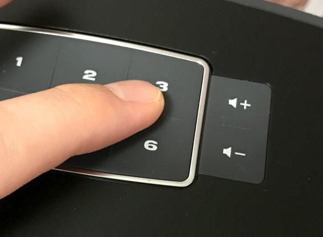 本体のプリセット番号を押すだけでSpotifyの音楽を再生できる