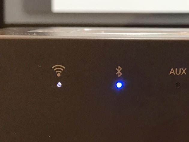 接続されるとBluetoothのインジケーターが光る