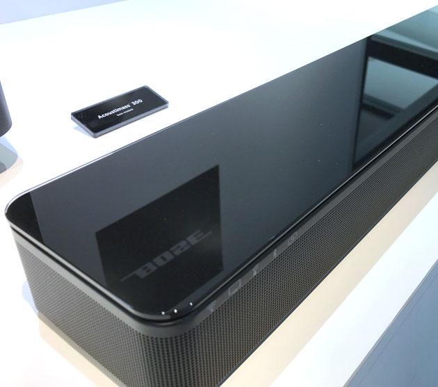 SoundTouch 300 soundbarの表面はとても美しい