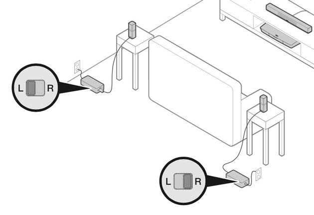 OmniJewel スピーカーはそれぞれ電源が必要