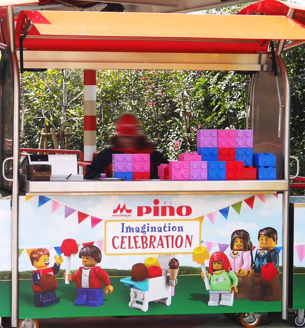 ピノ・カート レゴブロックケースにピノが入って売られている