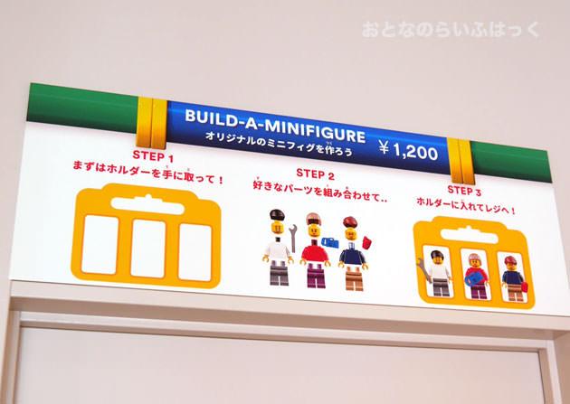 ミニフィギュアは3体セットで1200円