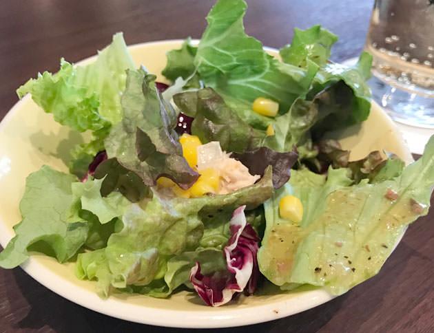 ランチセットのサラダ ツナサラダ