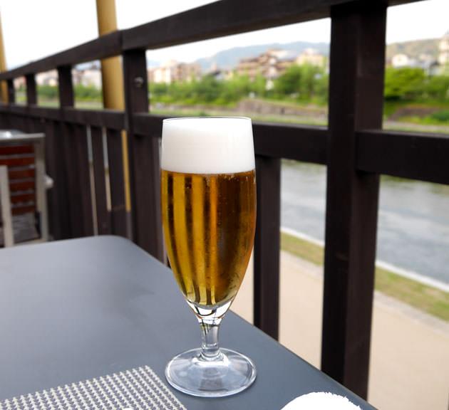 生ビール グラスで提供される