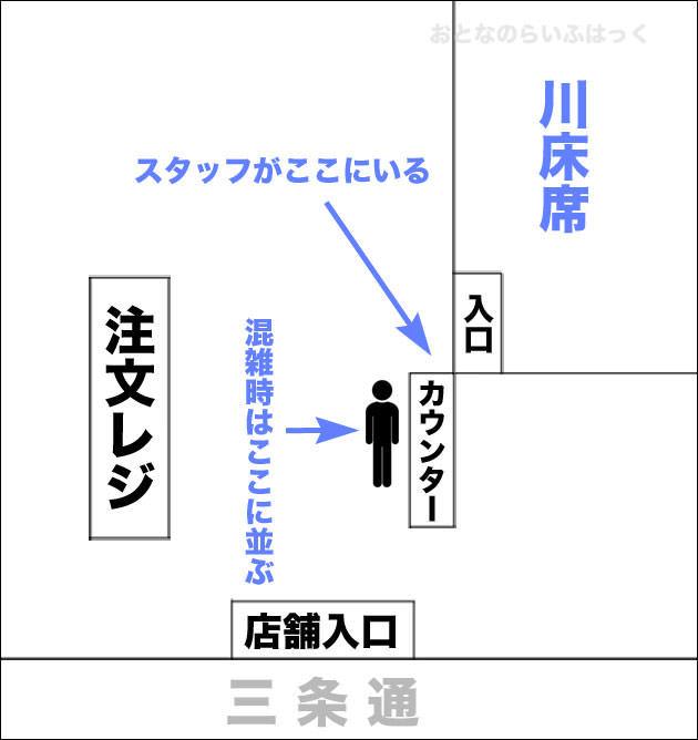 スターバックス京都三条大橋店 店内図