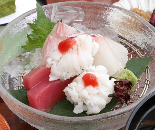 京都川床:鴨川の和食店「大當両」で鱧料理ランチを食べた!シコシコして美味しい