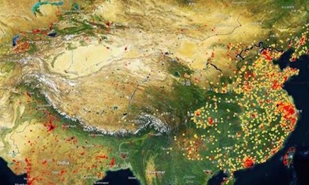 中国サテライト製造業指数 衛生写真