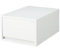 ポリプロピレンケース・引出式・深型・ホワイトグレー