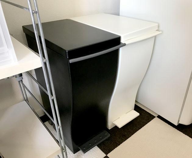 ゴミ箱 kcud ホワイトとブラック