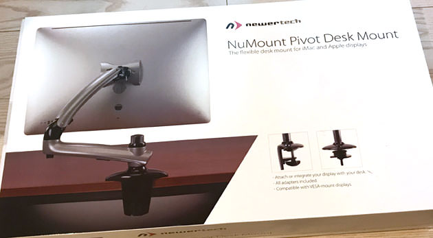NuMount Pivot Desk Mount パッケージ