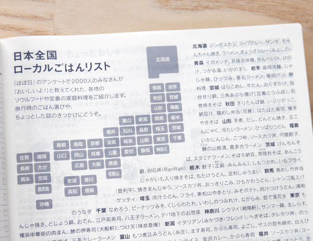 日本全国ローカルご飯リスト