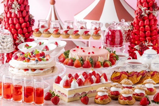 ヒルトン小田原リゾート&スパ Lovely Strawberry Tea Party(ラブリーストロベリー・ティーパーティ)