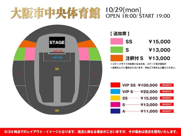 大阪市中央体育館 追加席 座席表