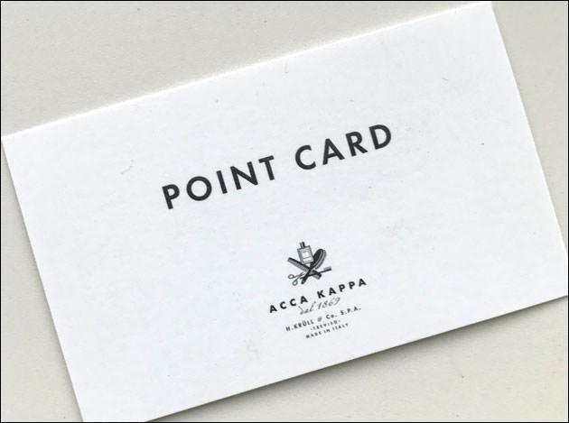 ACCA KAPPA ポイントカード