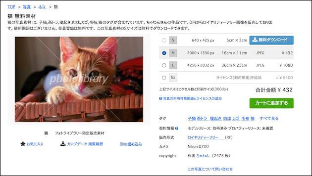 Photolibrary ダウンロード画面