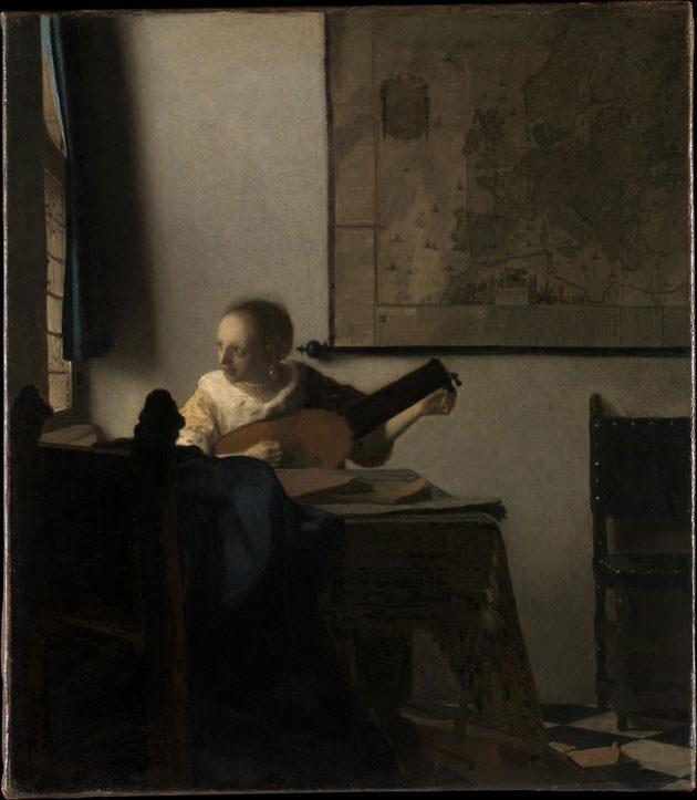 ヨハネス・フェルメールの「リュートを調弦する女」