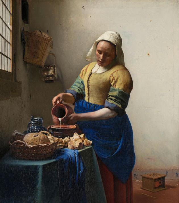 ヨハネス・フェルメール「牛乳を注ぐ女」