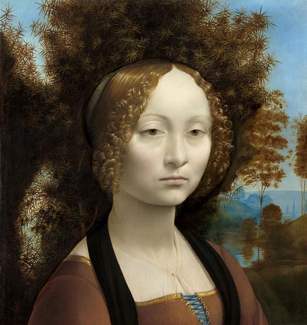 レオナルド・ダ・ヴィンチ「ジネーヴラ・デ・ベンチの肖像 」