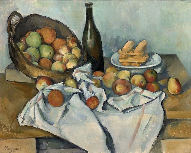 ポール・セザンヌ「リンゴの籠のある静物」