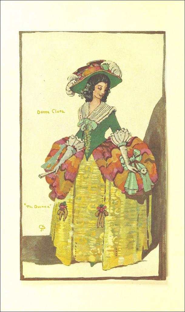 昔のドレスのイラスト