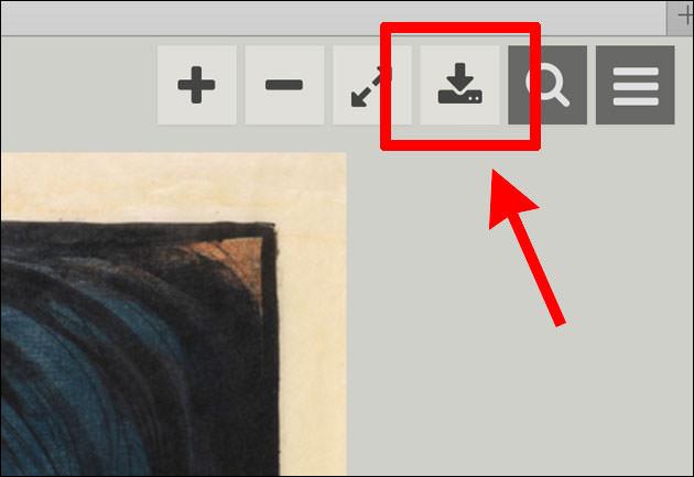 画像の詳細ページの右上にあるダウンロードボタン