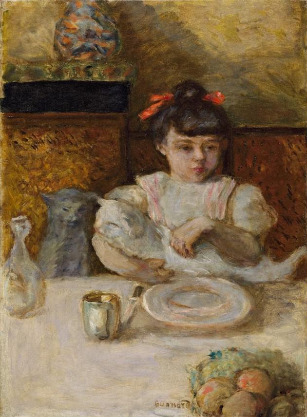 ピエール・ボナール「子供と猫」