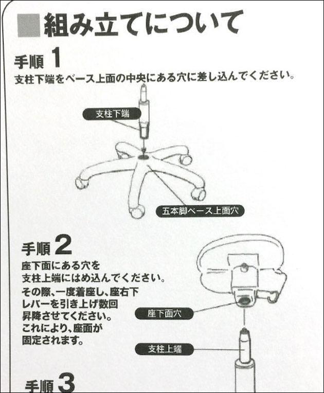 組み立て方法1