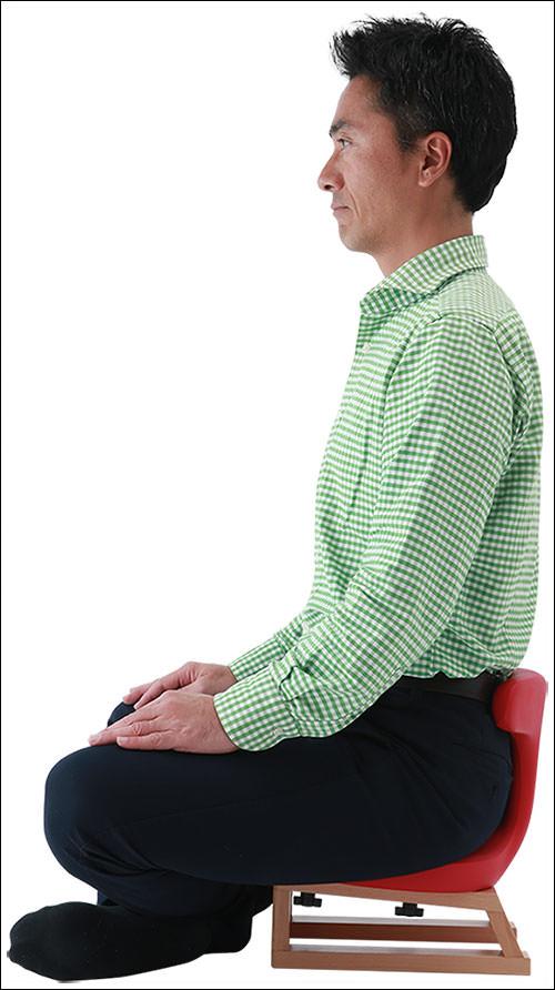 あぐらイス 正しい座り方 公式画像