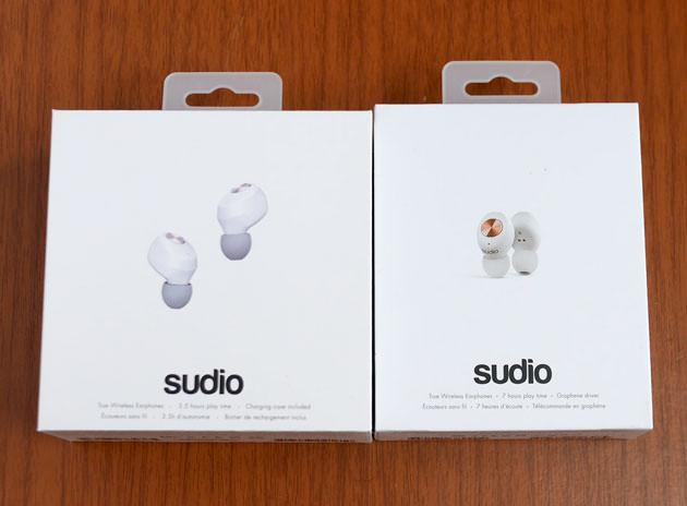 パッケージの大きさ比較。『Sudio TOLV』と『Sudio NIVÅ』