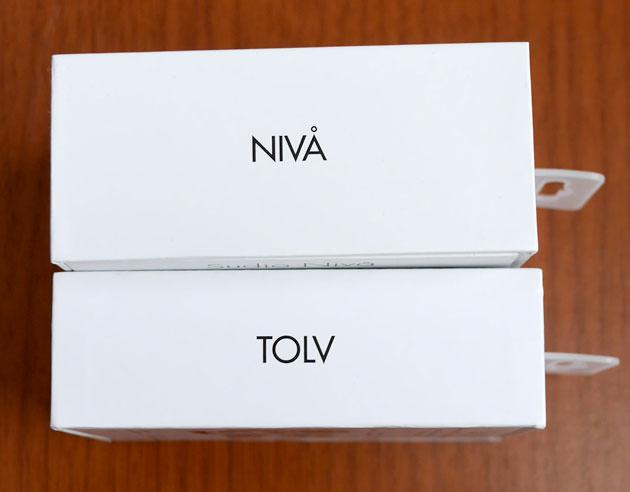 『Sudio TOLV』 パッケージの厚みを旧モデル『Sudio NIVÅ』と比較