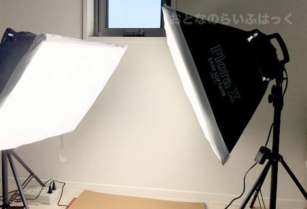 『Linco FloraX & Zenith ライトスタンド』を2セット設置した様子