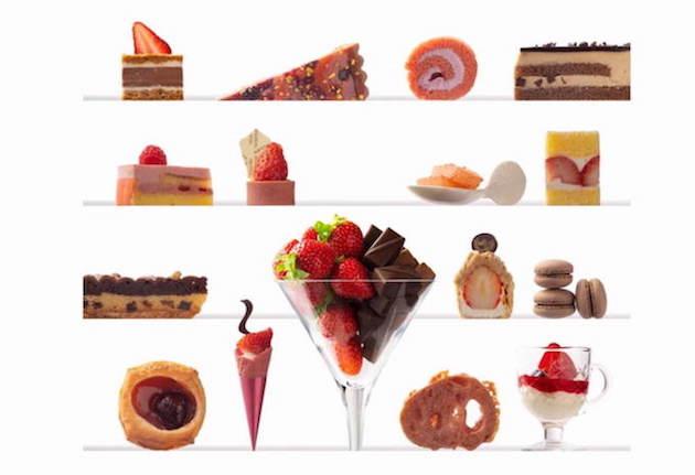 苺スイーツバイキング~苺とショコラの饗宴~ メニュー例