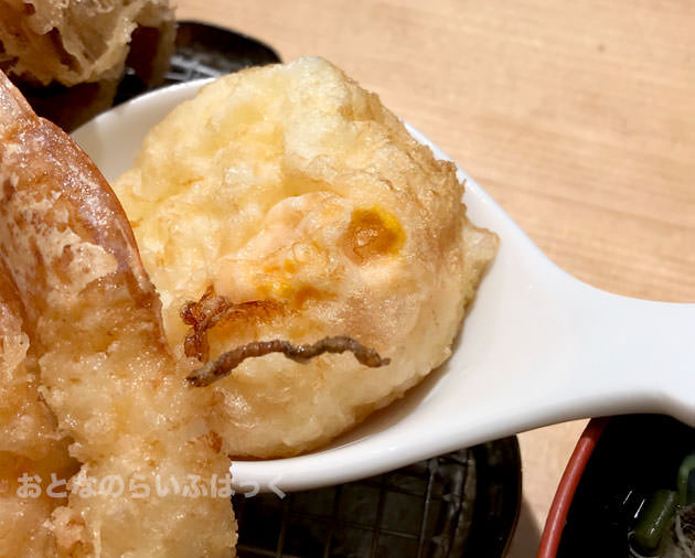 半熟の卵の天ぷら