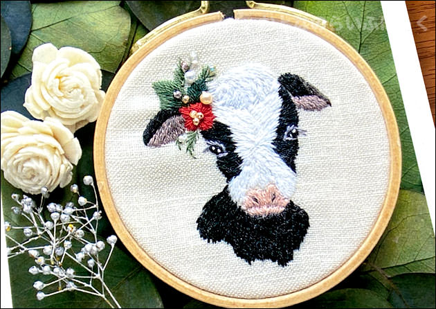 森本繭香さんによる刺繍