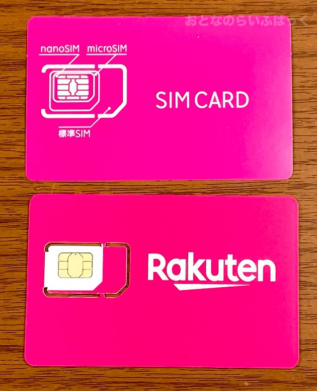SIMカードとSIMのサイズ案内