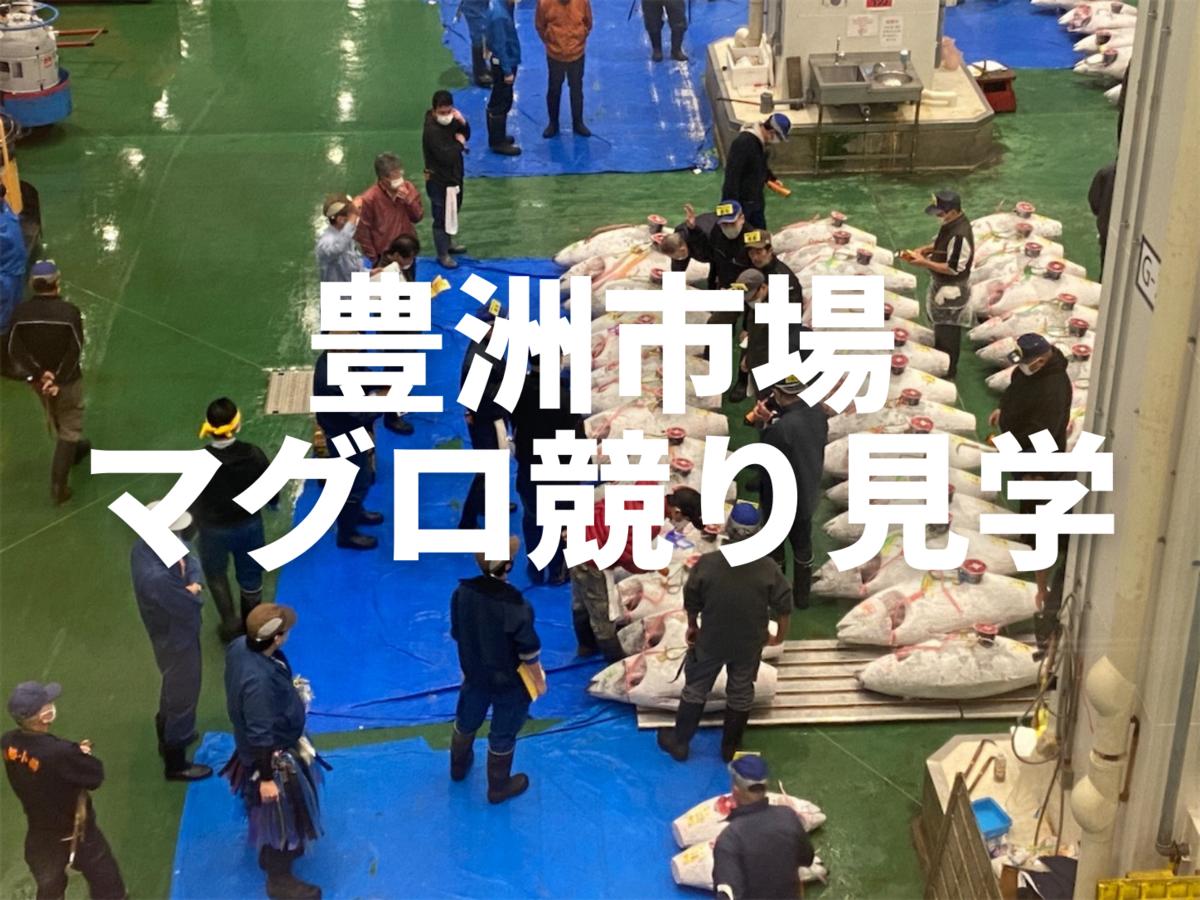豊洲市場 マグロ競り見学