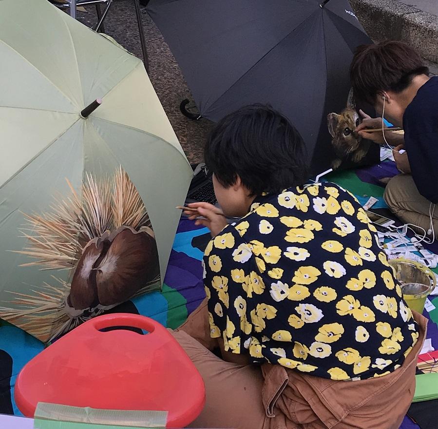 忘れ物傘へのペインティング