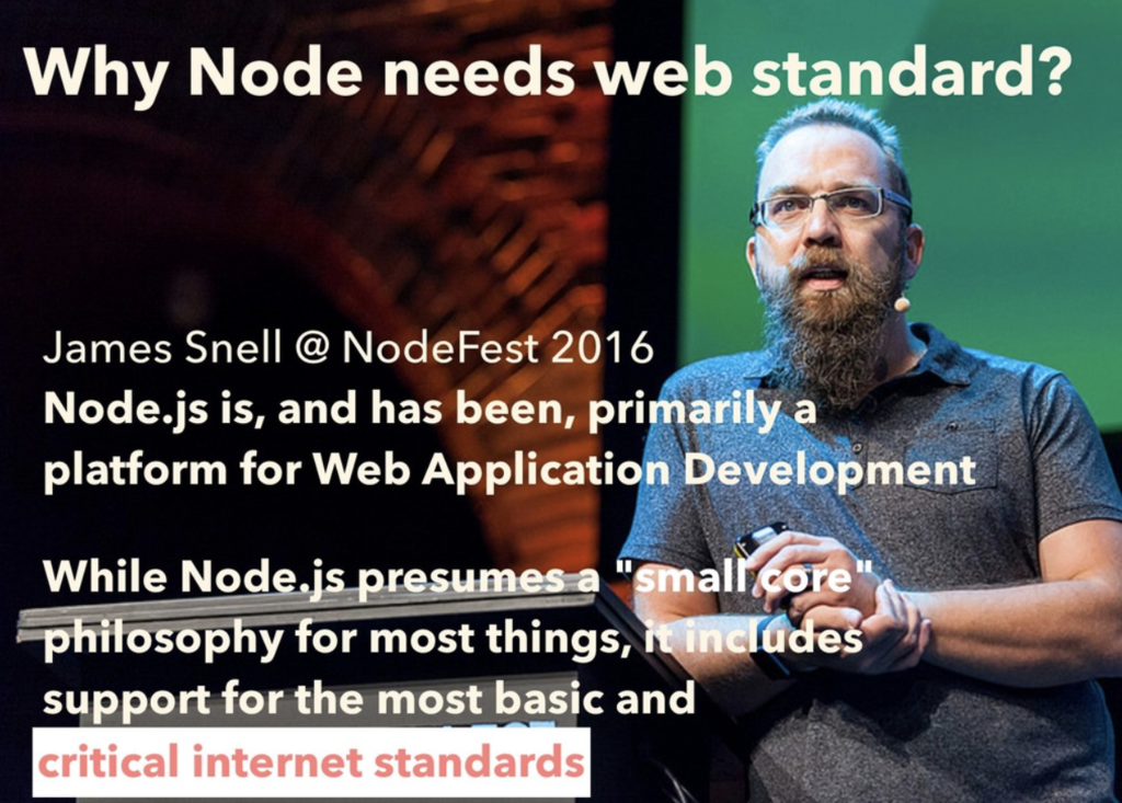 why node.js needs web standards