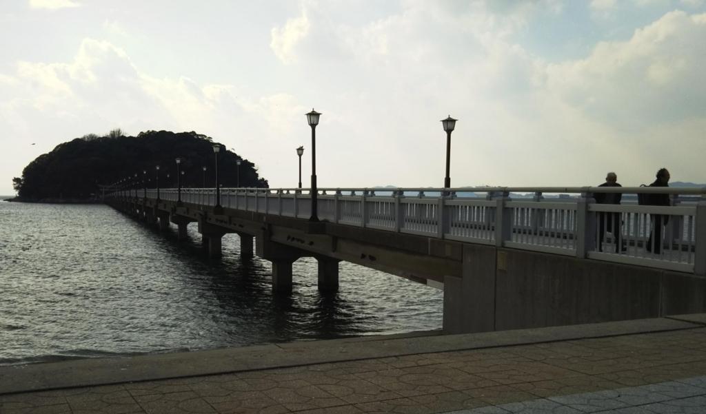 対岸から眺める竹島