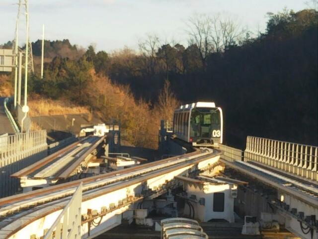 八草駅、リニモ線路切り替え