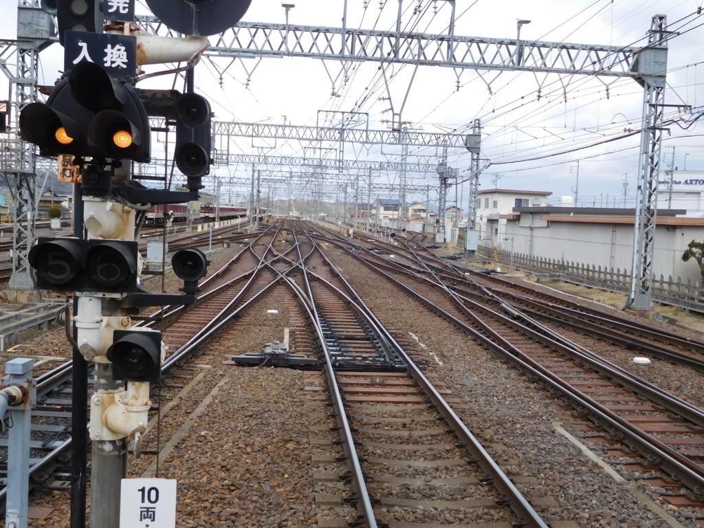 名張駅線路ポイント