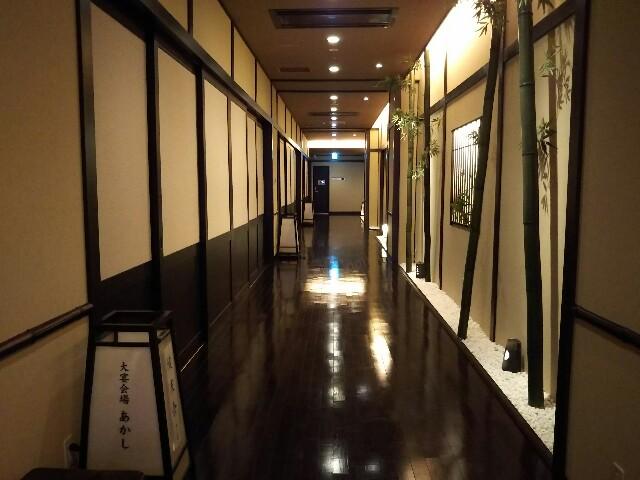 神戸ハーバーランド万葉倶楽部の客室の廊下